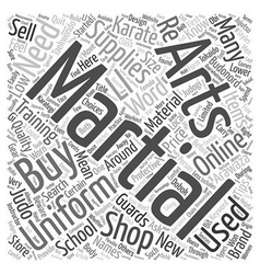 How and Where to Buy Martial Arts Supplies text vector image vector image
