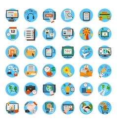 Mega collection of business marketing office and vector image vector image