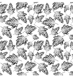 Seamless pattern with leaves imprints vector image