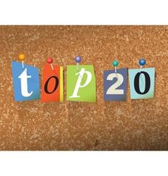 Top 20 Concept vector image vector image