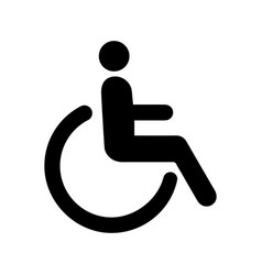 icon person disabled vector image