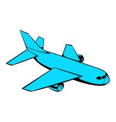 passenger airplane icon icon cartoon vector image vector image