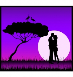 share a kiss vector image vector image