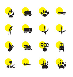 16 track icons vector