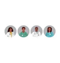 african american medics medical characters vector image