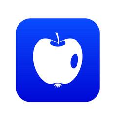 apple icon digital blue vector image