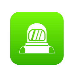 Astronaut icon digital green vector