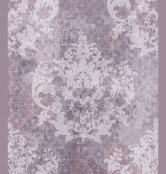 Baroque classic damask pattern ornament vector