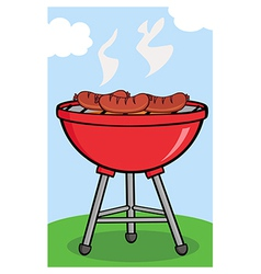 BBQ sausage outside vector image