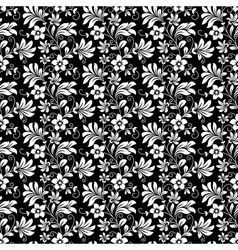Beautiful intricate retro seamless floral pattern vector