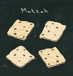 Black board background matzah or matzo vector