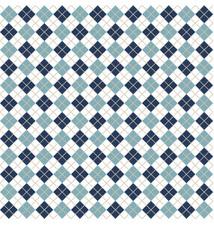 blue argyle harlequin seamless pattern vector image
