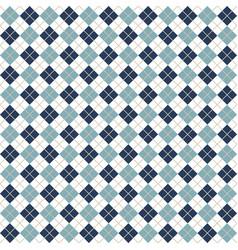 Blue argyle harlequin seamless pattern vector