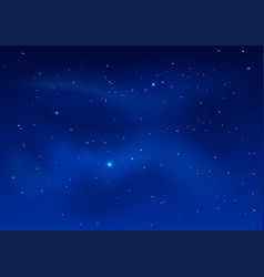 blue dark night sky and stars vector image