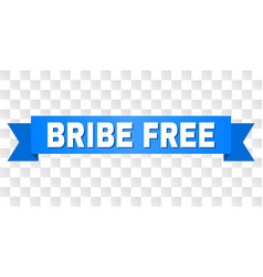 Blue tape with bribe free title vector