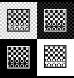 board game checkers icon isolated on black vector image