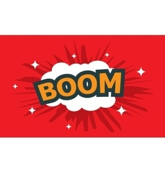 boom wording sound effect set vector image