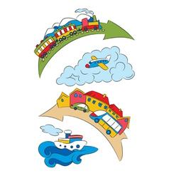 cartoon transport specifying a vector image