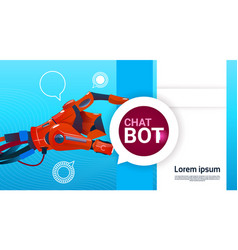 Chat bot free robot virtual assistance of website vector