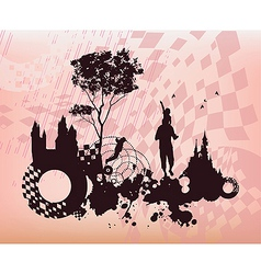 Children Past Present Concept Background vector image vector image
