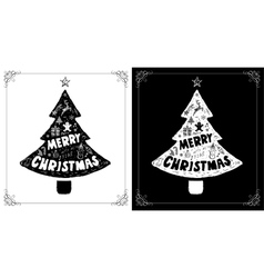 Christmas cards set with doodles drawings vector image