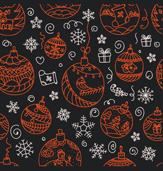 christmas decorations seamless pattern merry vector image