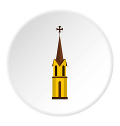 church icon circle vector image