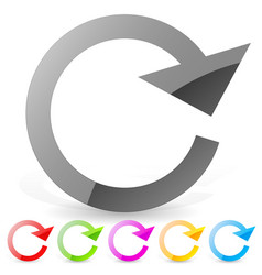 circle arrow clockwise circular arrow for repeat vector image