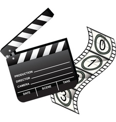 clapboard with film vector image
