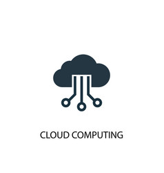 cloud computing icon simple element vector image