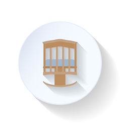 Cot flat icon vector