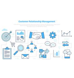 Crm customer relationship management concept vector