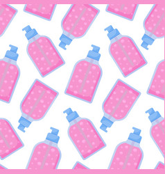 Dispenser bottle seamless pattern vector