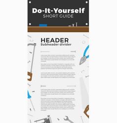 diy guide brochure vector image