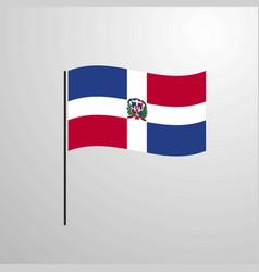 Dominican republic waving flag vector