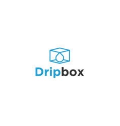 Drip box modern business logo design vector