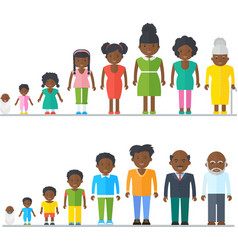 Dynasty african american black family vector