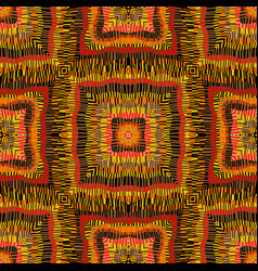 ethnic striped kaleidoscope background vector image