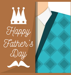 fathers day car with man used vest and shirt vector image