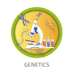 Genetics studies themed concept logo vector