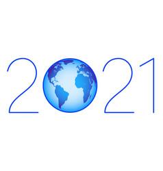 Globe 2021 symbol vector