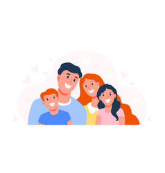 happy family parents with children dad mom and vector image