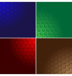 Hexagon color background vector