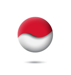 Indonesia flag icon in shape circle vector