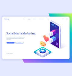 landing page social media marketing vector image