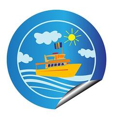 Leisure cruise sticker vector