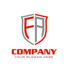 Letter fa logo design vector