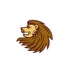 Lion Big Cat Head Woodcut vector