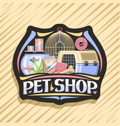 Logo for pet shop vector