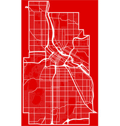 Map of the minneapolis city in the style of flat vector